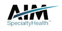 AIM-Specialty-Health Accepted Health Insurances