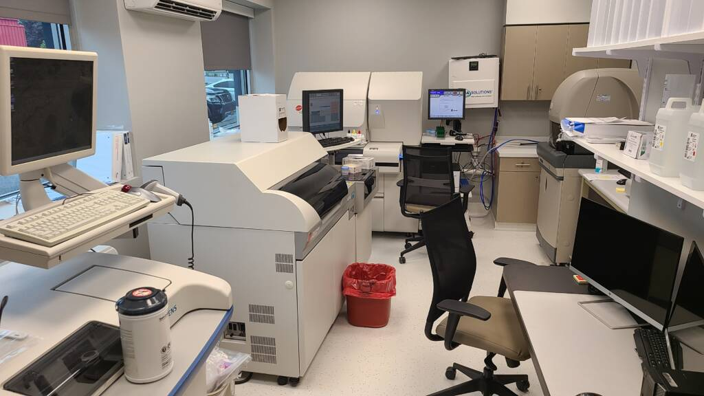 blood test laboratory